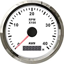 KUS Tachometer With Hour Meter 0-4000RPM For Diesel Engine 85MM 12V/24V