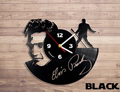 Elvis Presley music vinyl record wall clock