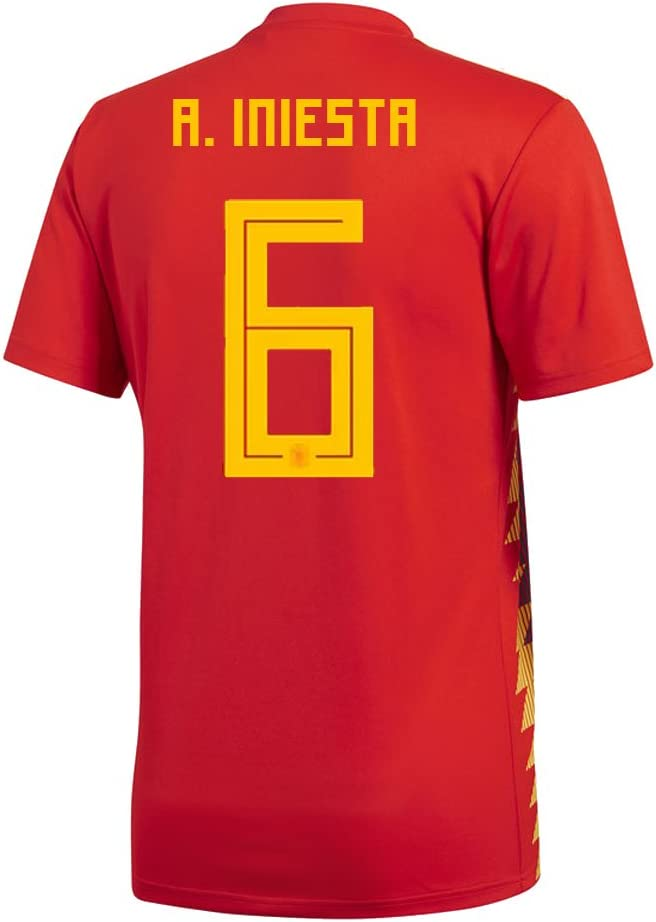 Amazon.com : adidas A. Iniesta #6 Spain