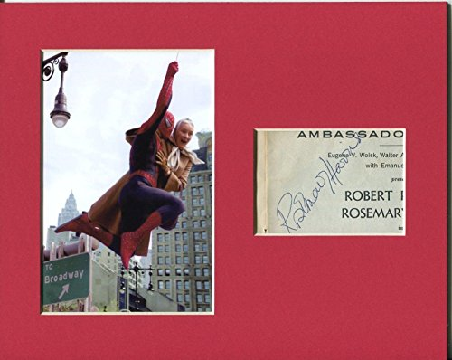 Rosemary Harris Spiderman Aunt May Rare Signed Autograph Photo Display