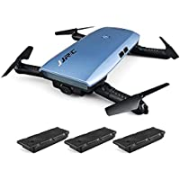 RTF Foldable RC Pocket Selfie Drone - WITH THREE BATTERIES(BLUE)
