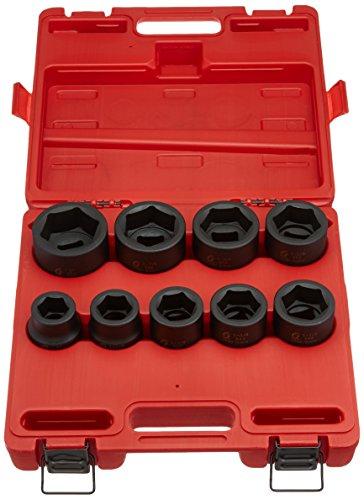 Sunex 5699 9 Piece 1″ Drive Standard SAE Jumbo Impact Socket Set