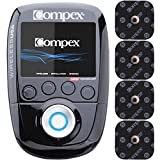 Compex Wireless USA Black Muscle Stimulator Bundle Kit: Muscle Stim, 16 Snap Electrodes, 9 Programs, Wireless PODs, Charge Station / 4 strength, 2 warm-up, 3 recovery