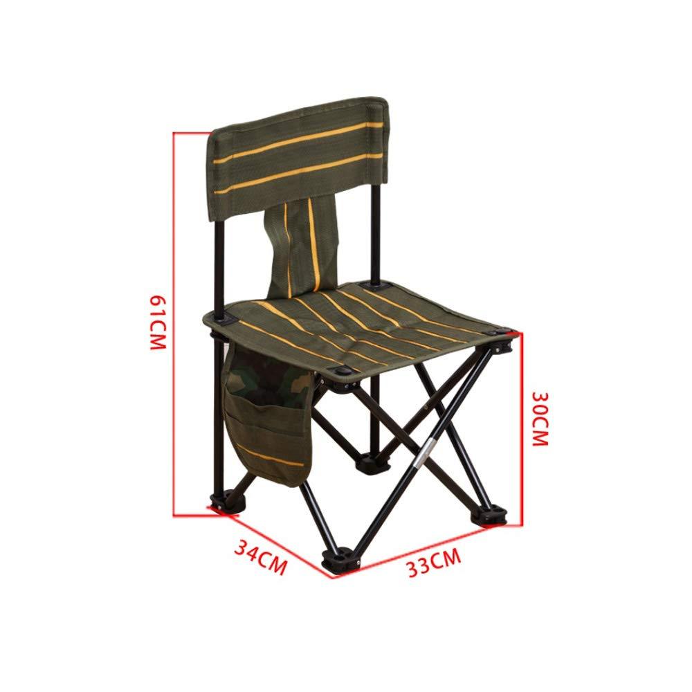 40 × 40 × 73cm XBZDY Chaise De Pêche Pliable, Chaise De Loisirs Extérieure Multifonctionnelle Portative Camping Barbecue, Petit Tabouret Auto-pilotant, 2 Tailles, Vert Foncé