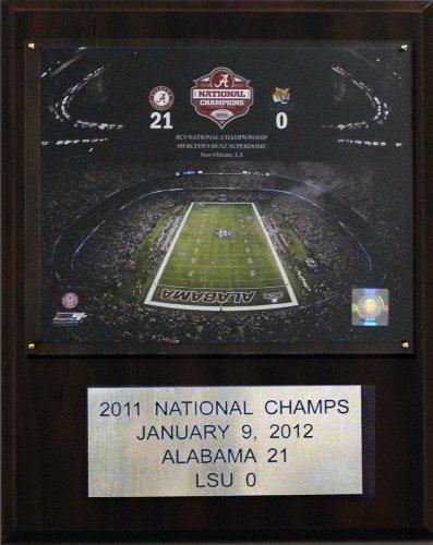 NCAA Football Alabama 2011 Football Champions Plaque