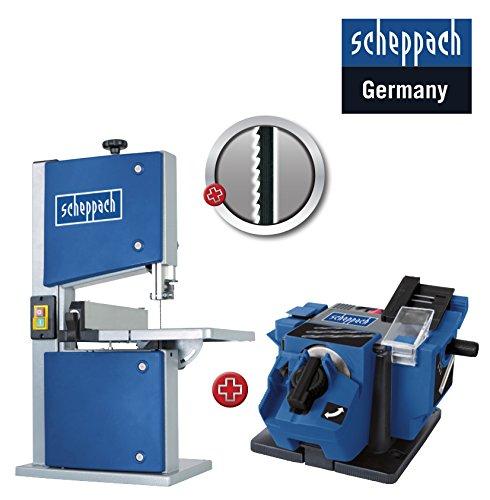 SCHEPPACH Heimwerker SET Bandsä ge HBS20 + Ersatzblatt + Schä rfstation GS650 *NEU* Scheppach + Scheppach