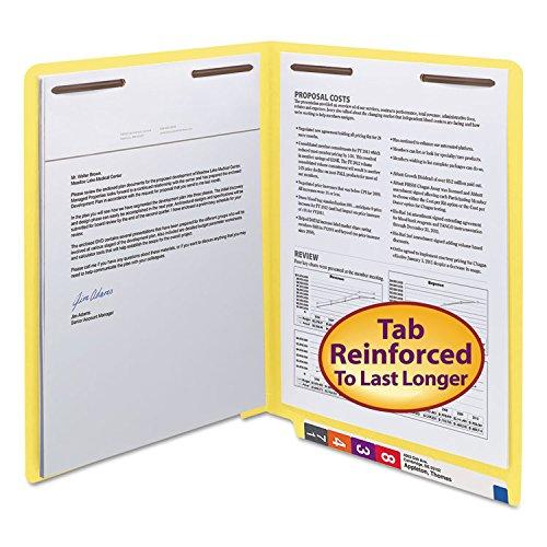 Smead 25950 WaterShed/CutLess End Tab 2 Fastener Folders 3/4
