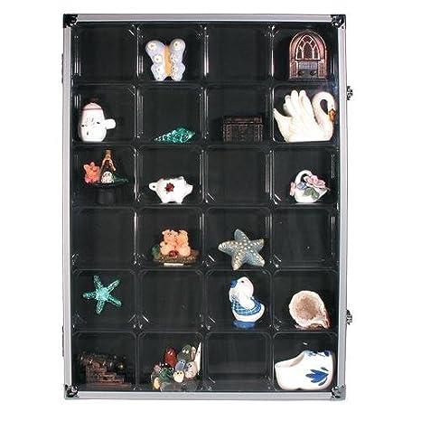Collectibles Aluminum Display Case With 24 Compartments Merchandise & Memorabilia
