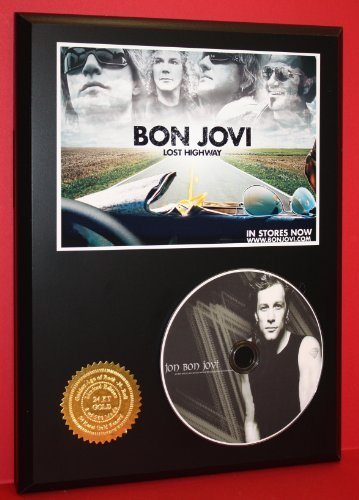 Bon Jovi Limited Edition Picture Disc CD Rare Collectible Music Display Gold Record Outlet