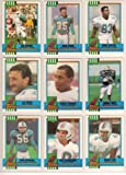 Miami Dolphins 1990 Topps Football Team Set (Dan Marino) (Sammie Smith) (Richmond Webb Rookie) (John Offerdahl) (Pete Stoyanovich) (Reggie Roby) (Mark Duper) (Mark Clayton) and More