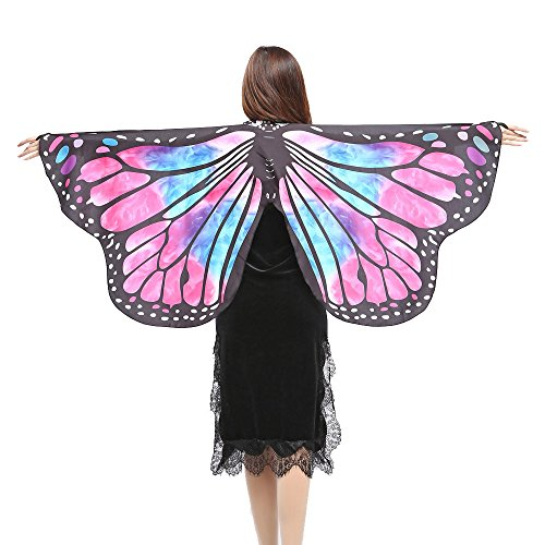 iLXHD Festival Props Butterfly Wings Shawl Scarves Nymph Pixie Poncho Costume for Party Show -