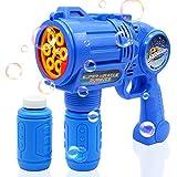Best Bubble Guns - Ultimate Bubble Gun Bubble Blaster - Blue Crefun Review