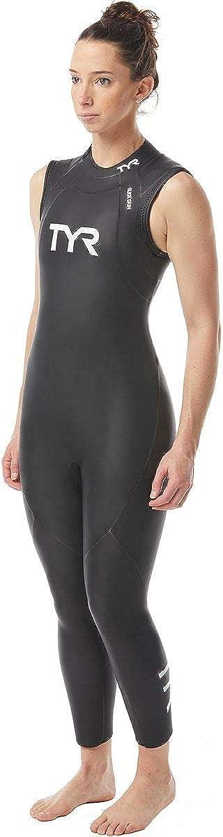 TYR Womens Hurricane Wetsuit Cat 1 Sleeveless M Black
