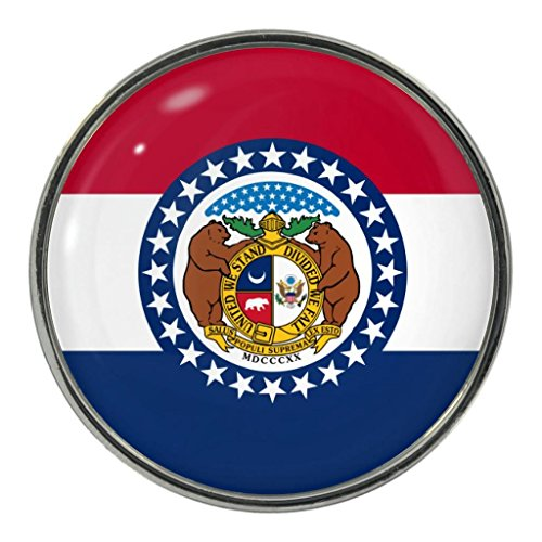 Missouri US State Flag Metal Fridge Magnet