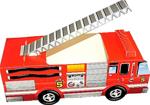 3 -Classic FIRETRUCK Food Boxes, Party Food Boxes, Classic Tailgate Food Boxes