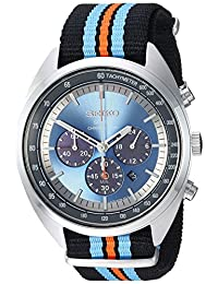 Seiko Men's 'RECRAFT Series' Quartz Stainless Steel and Nylon Dress Watch, Color Black (Model: SSC667)
