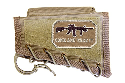 M1SURPLUS Tan Cheek Rest + Come and TAKE IT Morale for sale  Delivered anywhere in USA
