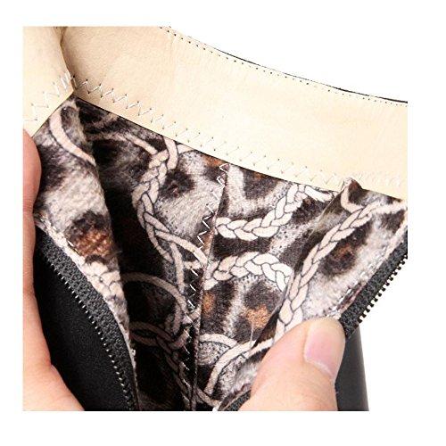 Shoes Stiletto Pointed Dress KemeKiss Boots Women Toe Fashion Party Black pxwqXX8nEf