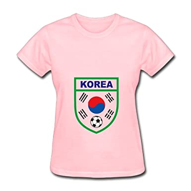 Women s Russia World Cup South Korea Team Victory Champion T Shirts Pink 84036aa93ceb