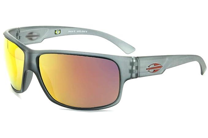 Gafas de sol Joaca II gris y naranja con lentes espejada ...