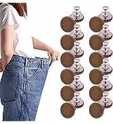 12 Sets Button pins for Jeans,No Sew Jean Pants Button Pins,Instant Button Adjustable Cowboy Butt...