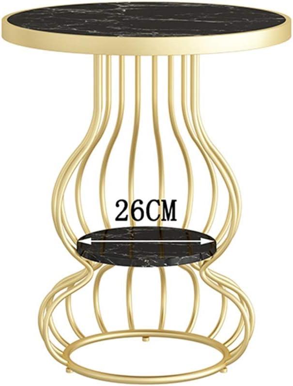 2020 Tafel Hoektafel, Beweegbare Marmeren Ontbijttafel, Salonbank Bijzettafel, Dubbel Balkon Kleine Ronde Tafel, Nachtkastje Picknicktafels (Color : Style4) Style1 b3iKdGU