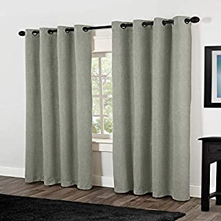 Exclusive Home Curtains Rita Linen Grommet Top Window Curtain Panel Pair, Aloe, 54x84 (B00G24TAHW) | Amazon price tracker / tracking, Amazon price history charts, Amazon price watches, Amazon price drop alerts