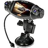 "Dash Cam, CiBest® Car Dvr 2.7"" LCD Screen Rotating Dual Len Vehicle DVR Road Dash Video Camera Recorder Traffic Dashboard Recorder"