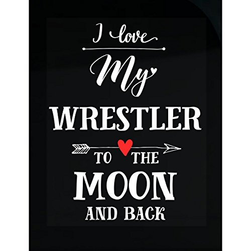 I Love My Wrestler To The Moon And Back Cool Gift - Sticker