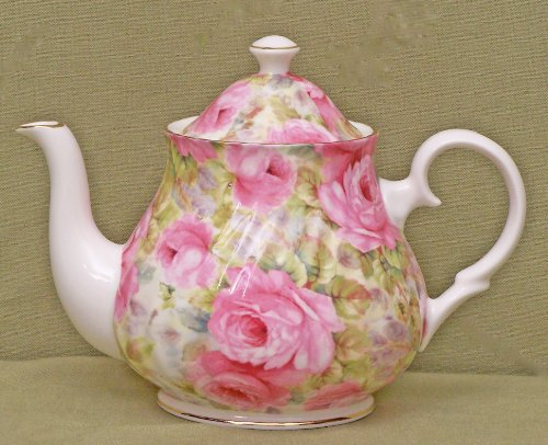 English Tea Store Lady Diana Chintz Fine Bone China 6 Cup Teapot