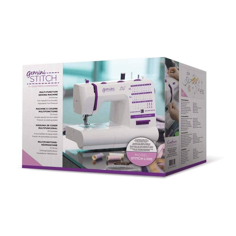 Gemini Crafter's Companion Stitch L100 Multi-Function UK Sewing Machine Crafter's Companion