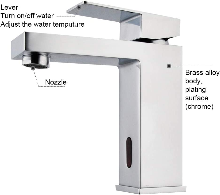 Touchless Faucets Bathroom Sink Faucets & Parts Touchless Smart ...
