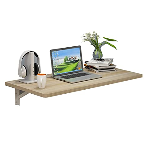 Amazon.com: Mesa plegable pequeña de pared para café/estudio ...