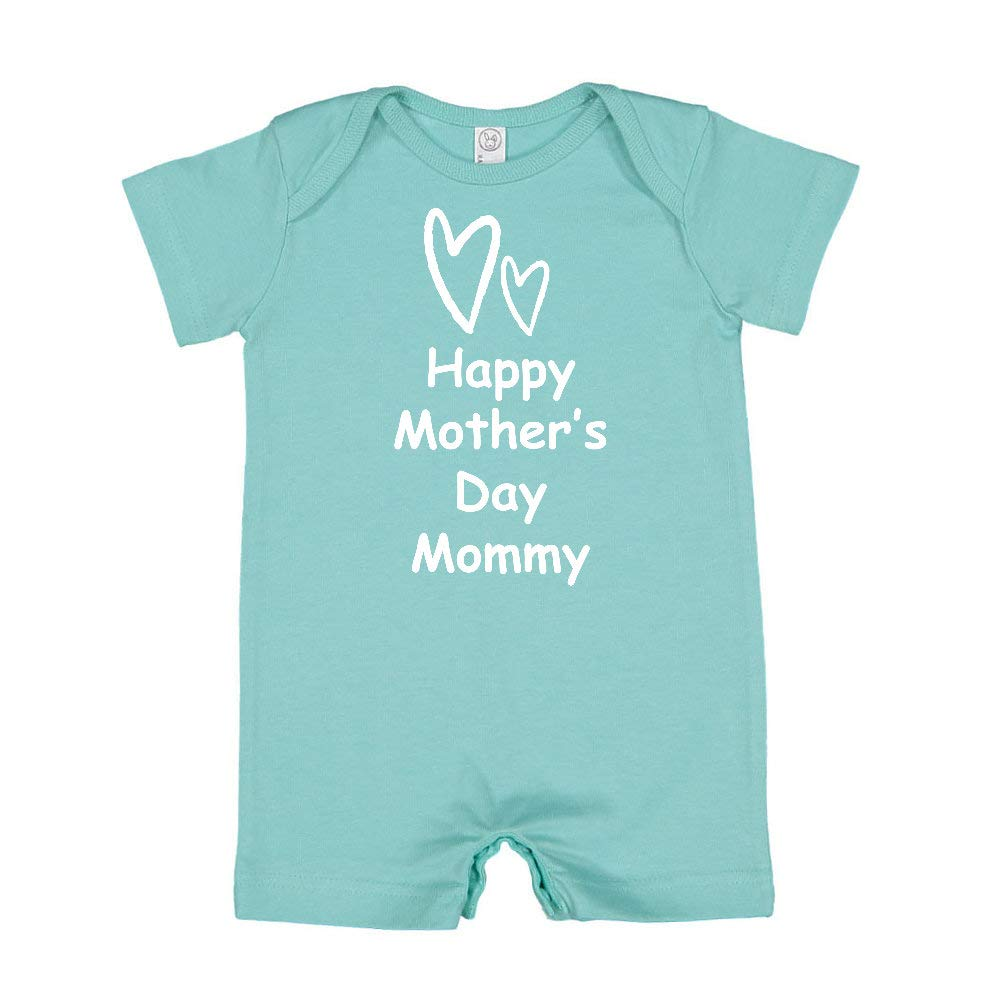 Two Hearts Happy Mothers Day Mommy Baby Romper