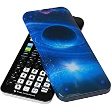 Guerrilla Hard Slide Case for Texas Instruments TI-84 Plus CE Color Edition Graphing Calculator With Screen protector and Graphing Ruler, Galaxy