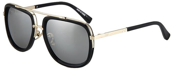 GCR Sunglasses Polarized light Shade glasses Nouvelles lunettes de soleil lunettes de mode métal ajouré boîte translucide , c