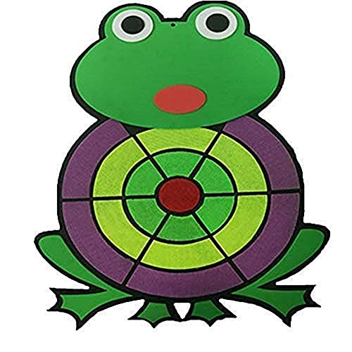 Xinhuamei Cartoon Animal Frog Foam Sticky Ball Target Bubble Target Dart Child Throwing Flying Toy Simple & Easy to Install Kids Darts Board with Accessories ()