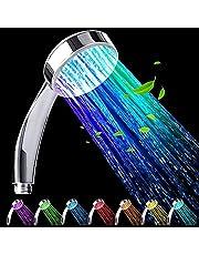 GOLDMIKY LED-duschhuvud, LED-dusch, regndusch handdusch, duschhuvud färgförändring, med7-färgat LED-ljus romantiskt ljus, lämplig för spraymassage och badrumsdekoration