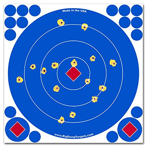 Adhesive 8 Inch Reactive Splatter Targets for Shooting