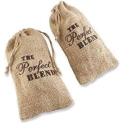 Kate Aspen Set of 12 The Perfect Blend Coffee Favor Kit, Rustic Burlap