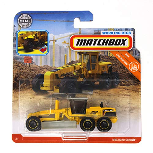 - Matchbox Working Rigs MBX Road Grader, Yellow