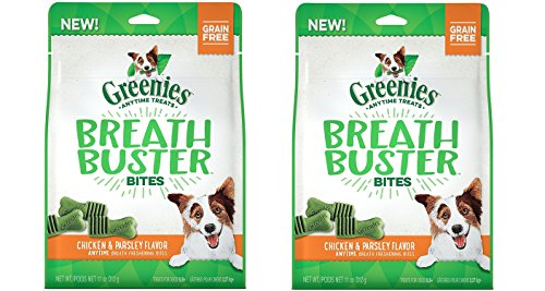 (2 Pack) Greenies Breath Buster Bites Chicken & Parsley Flavor Natural Dog Treats for Bad Breath