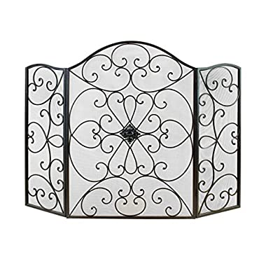 Deco 79 21626 Metal Fire Screen Ultimate in Fire Protection Category