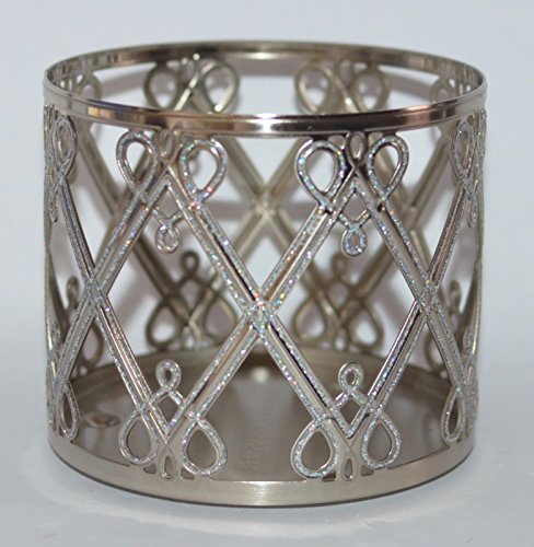 Bath & Body Works 3 Wick Candle Sleeve Holder Holiday Hearts & Diamonds