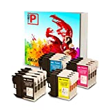 The Red P ® Compatible Ink Cartridge Replacement for Brother LC-61 LC61 LC65 XL High Yield (4 Black, 4 Cyan, 4 Magenta, 4 Yellow) 16 Pack LC61BK LC61C LC61M LC61Y for DCP-165C, DCP-375CW, DCP-385C, DCP-395CN, DCP-585CW, DCP-J125, DCP-J140W, MFC-250C, MFC-255CW, MFC-290C, MFC-295CN, MFC-490CW, MFC-495CW, MFC-5490CN, MFC-5890CN, MFC-5895cw, MFC-6490CW, MFC-6890CDW, MFC-790CW, MFC-795CW, MFC-990CW, MFC-J220, MFC-J265w, MFC-J270w, MFC-J410w, MFC-J415w, MFC-J615W, MFC-J630W Printers