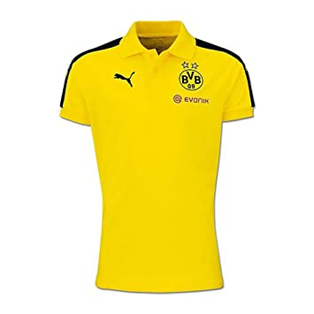 Puma Borussia Dortmund Performance Polo Camiseta 2016 2017 Niños Negro  Amarillo 08e34e3ba8b5c