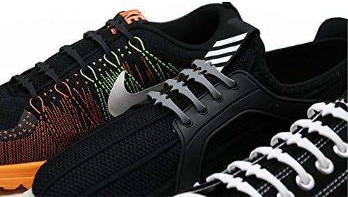 16 unidades unisex para adultos, atletismo, correr sin atar, cordones elásticos de silicona para zapatos, con cordón para todos los zapatillas gris: Amazon.es: Hogar