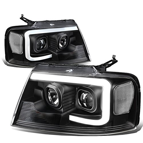 For Ford F150 / Lincoln Mark LT Black Housing Clear Corner 3D LED DRL Projector Headlight Lamp