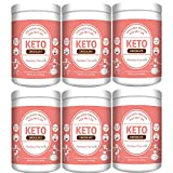 Keto Protein Powder with MCT Oil:Collagen Peptides Grass-fed Low Carb Keto Drink Supplement 11.4oz/326.2g Chocolate (6)