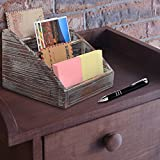 MyGift Vintage Wood 4 Compartments Decorative